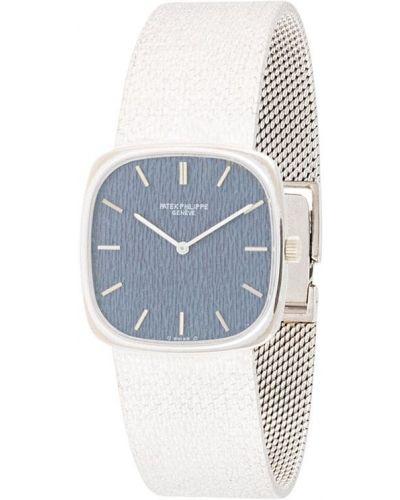 Со стрелками серебряные часы квадратные Patek Philippe