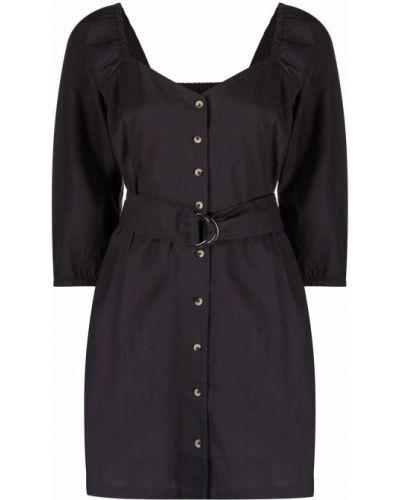 Платье макси с длинными рукавами - серое Ba&sh