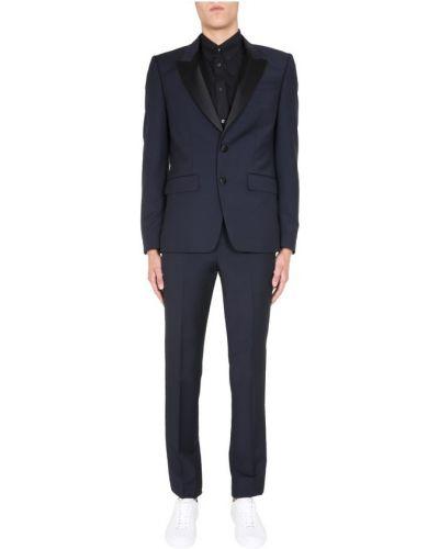 Czarny satynowy garnitur Givenchy