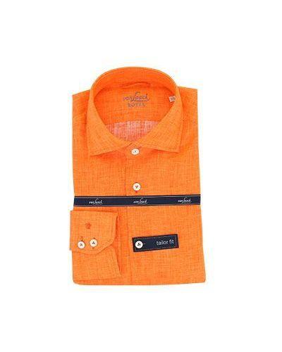 Повседневная оранжевая классическая рубашка Van Laack