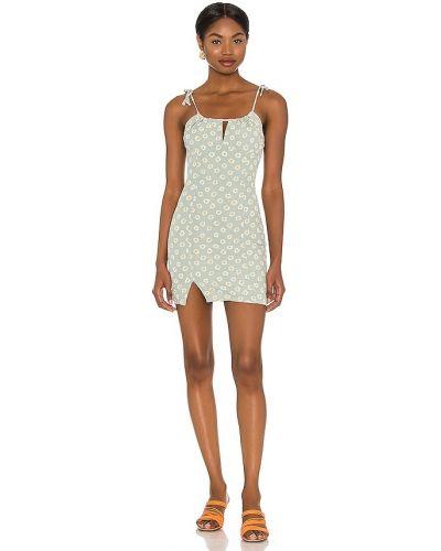 Платье мини с декольте с подкладкой на молнии Majorelle