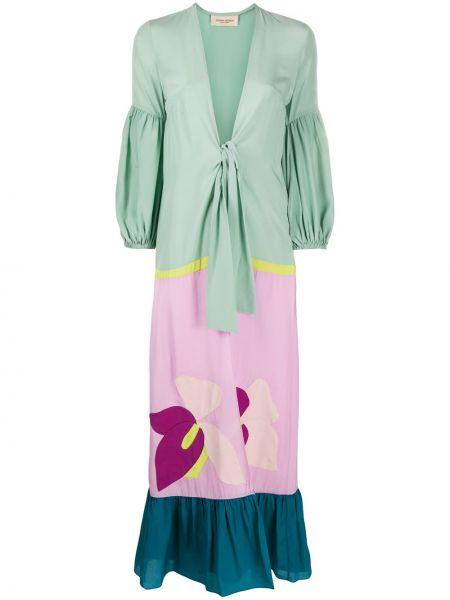 Свободное зеленое пальто свободного кроя Adriana Degreas