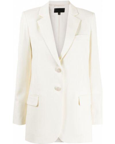 Шерстяной белый классический пиджак с карманами Nili Lotan