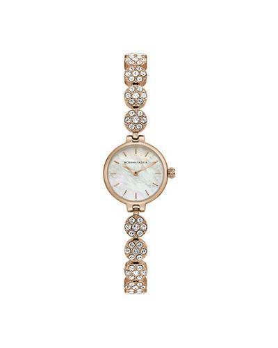 Кварцевые часы с круглым циферблатом серые Bcbgmaxazria