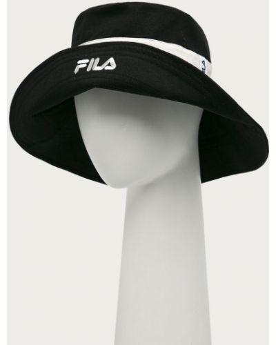Czarna czapka bawełniana Fila
