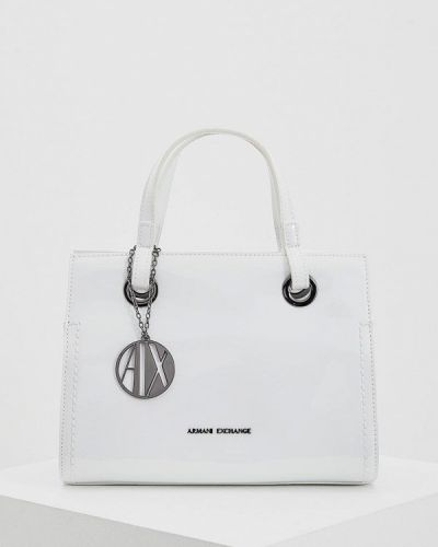 Кожаный сумка лаковая Armani Exchange
