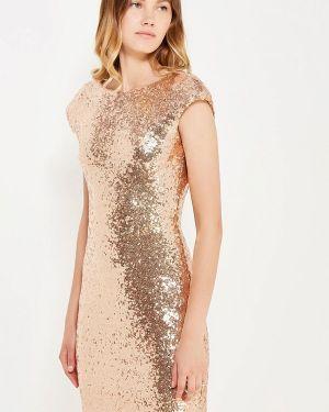 Коктейльное платье осеннее золотой Soky & Soka