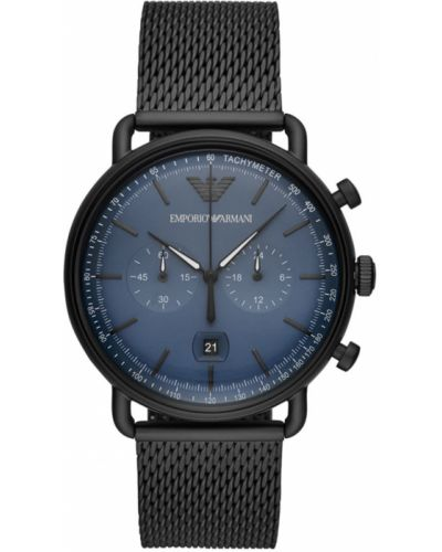 Czarny zegarek kwarcowy Emporio Armani