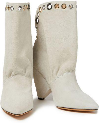 Ankle boots skorzane w szpic Iro