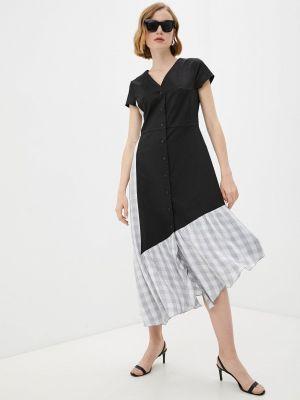 Повседневное черное платье Adzhedo