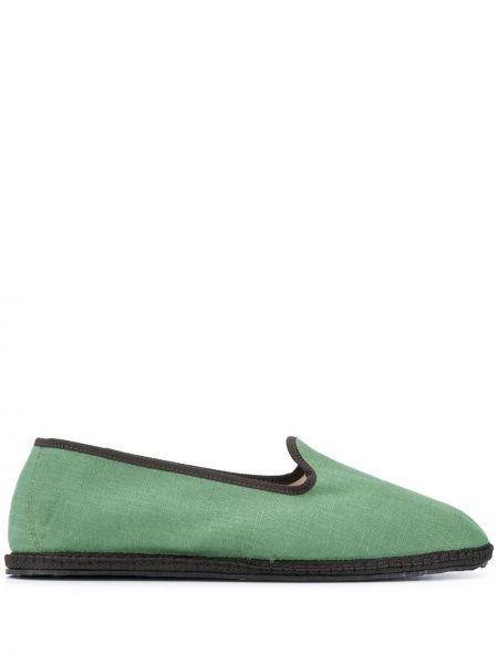 Zielone espadryle płaska podeszwa Vibi Venezia