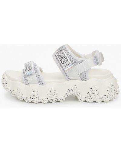 Текстильные сандалии - серебряные Crosby