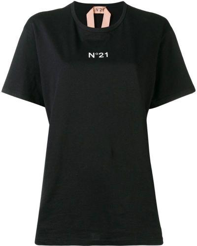 Футболка черная оверсайз N21