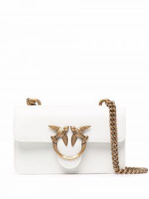 Złota torebka na łańcuszku - biała Pinko