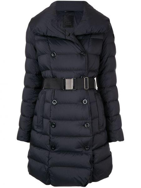 Нейлоновая черная куртка с запахом с поясом Tatras