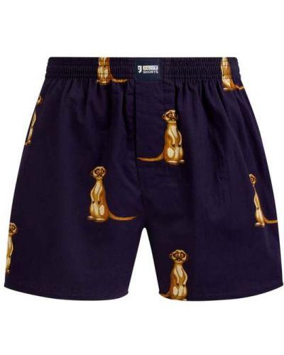 Czarne majtki szorty bawełniane zapinane na guziki Happy Shorts
