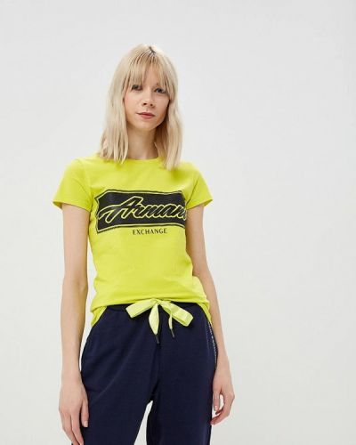 Желтая футболка 2019 Armani Exchange