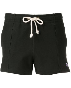 Черные спортивные шорты с карманами Champion