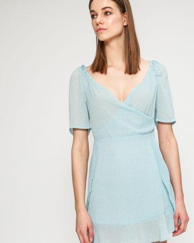Платье мини с запахом облегающее Answear