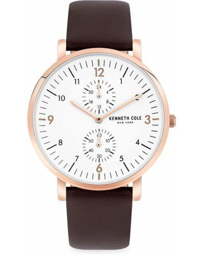 Biały zegarek skórzany Kenneth Cole New York
