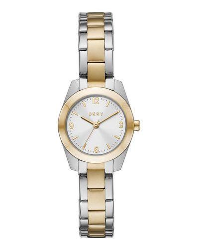 Żółty złoty zegarek Dkny