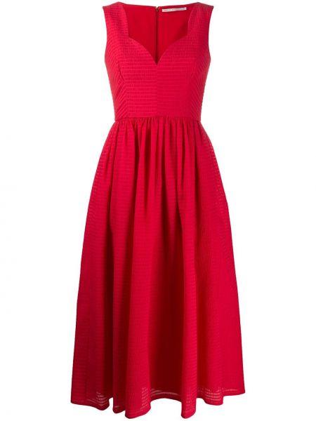 Расклешенное приталенное платье без рукавов с вырезом Emilia Wickstead