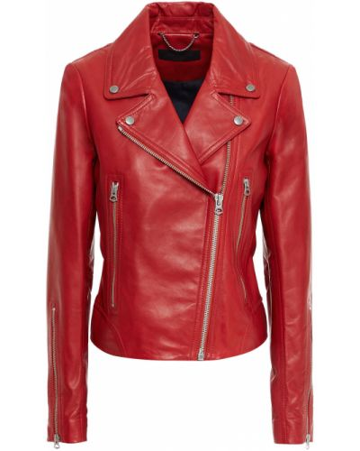 Кожаная куртка байкерская с карманами Rag & Bone