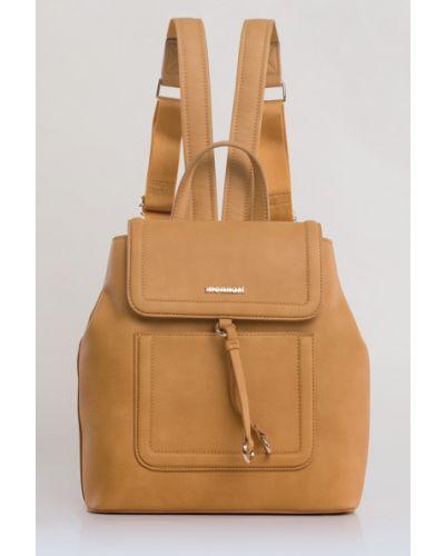 Кожаный рюкзак с отделениями из полиэстера Monnari