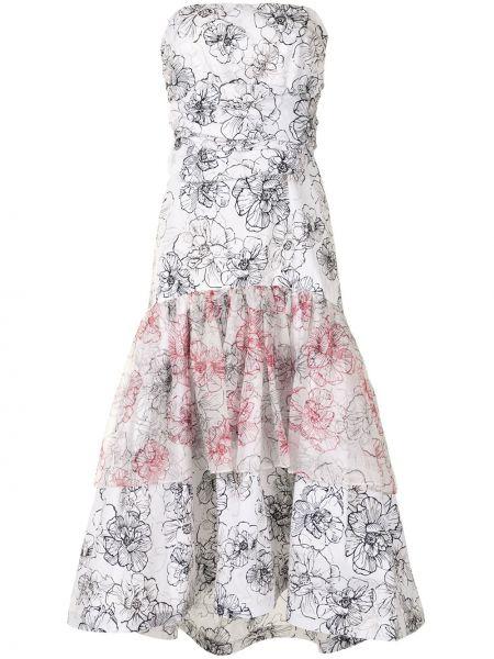 Белое платье из фатина с потайной застежкой Silvia Tcherassi