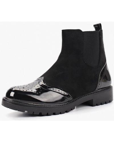 Кожаные ботинки осенние на каблуке Tulipano