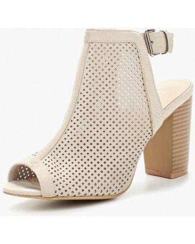 Босоножки на каблуке замшевые резиновые Sergio Todzi
