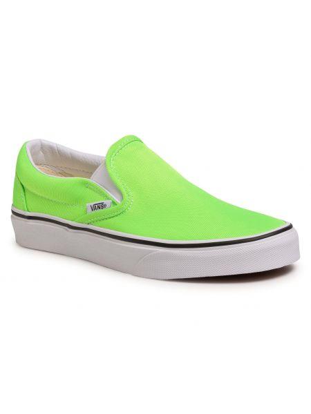 Slipony klasyczny zielony Vans