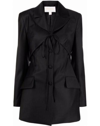 Черный шерстяной пиджак Matériel