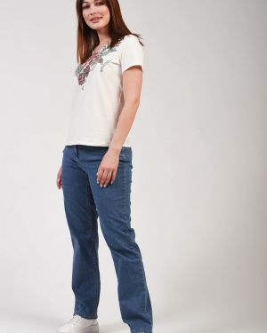 Хлопковые синие джинсы Gerry Weber