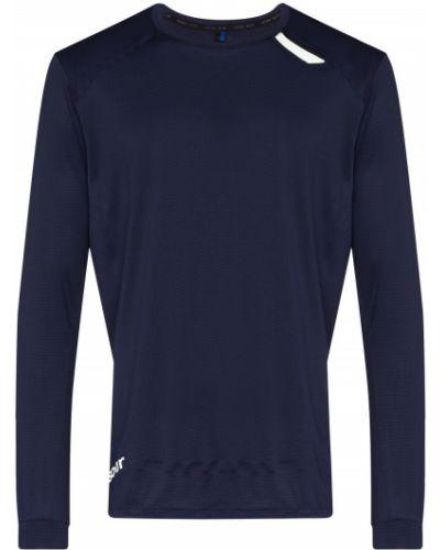 С рукавами спортивная синяя спортивная футболка с круглым вырезом Soar