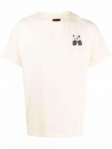 Biały t-shirt krótki rękaw bawełniany Clot