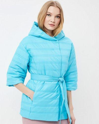 Утепленная куртка весенняя бирюзовый Odri Mio