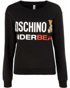 Czarna bluza bawełniana Moschino Underwear