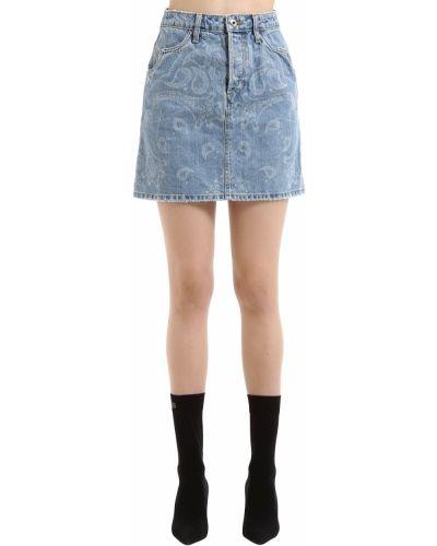 Джинсовая юбка мини - синяя Jonathan Simkhai
