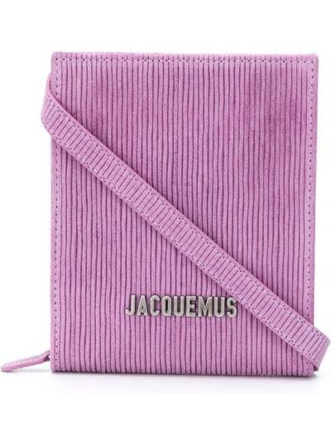 С ремешком розовая кожаная сумка на плечо Jacquemus