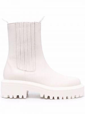 Ботильоны на каблуке - белые Vic Matie