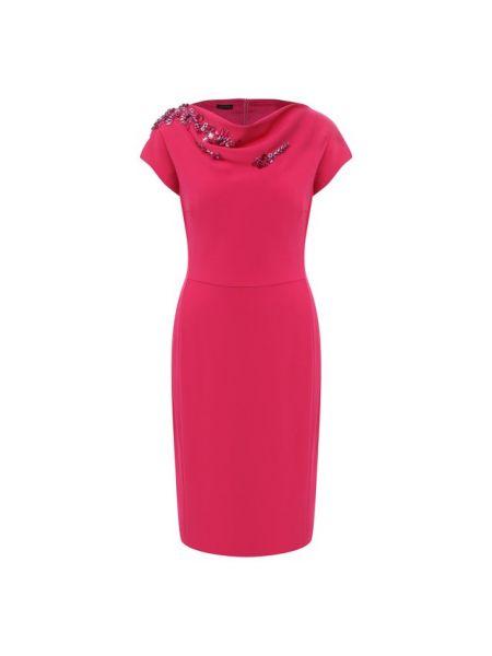 Розовое платье с подкладкой Escada