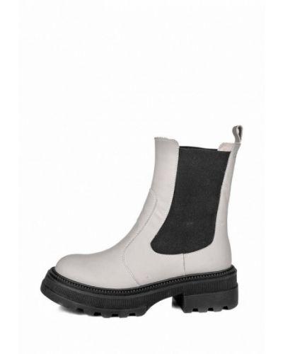 Кожаные ботинки челси - бежевые My Day