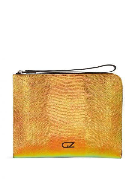 Pomarańczowy skórzany skórzana torba Giuseppe Zanotti