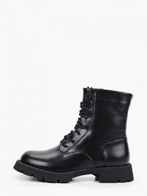 Черные ботинки из полиуретана Ideal Shoes®