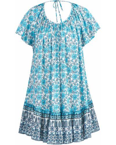 Пляжное платье в стиле бохо с оборками Mc2 Saint Barth