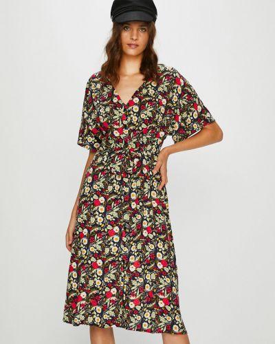 Платье макси из вискозы прямое Answear