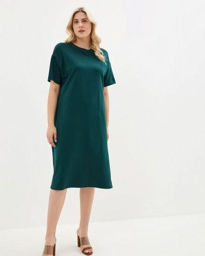 Платье футболка зеленый наше