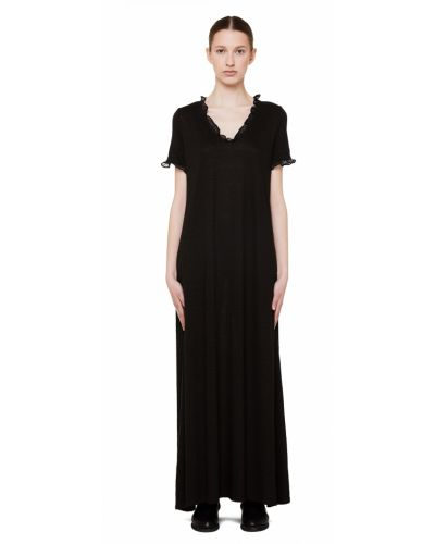 Платье шелковое черное 120% Lino