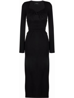 Черное платье длинное Giambattista Valli